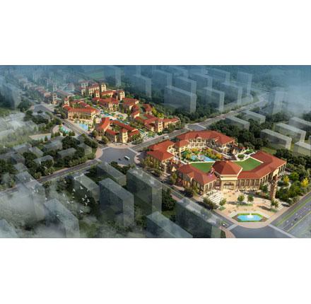 河南鹤壁淇水湾步行街规划及建筑设计