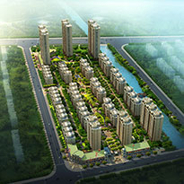 江苏省泰州市华泽天下居住区景观概念方案及详细设计