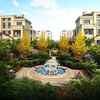 江苏省扬州市塞纳春天别墅区景观设计